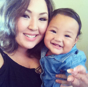Aya with her son Chase